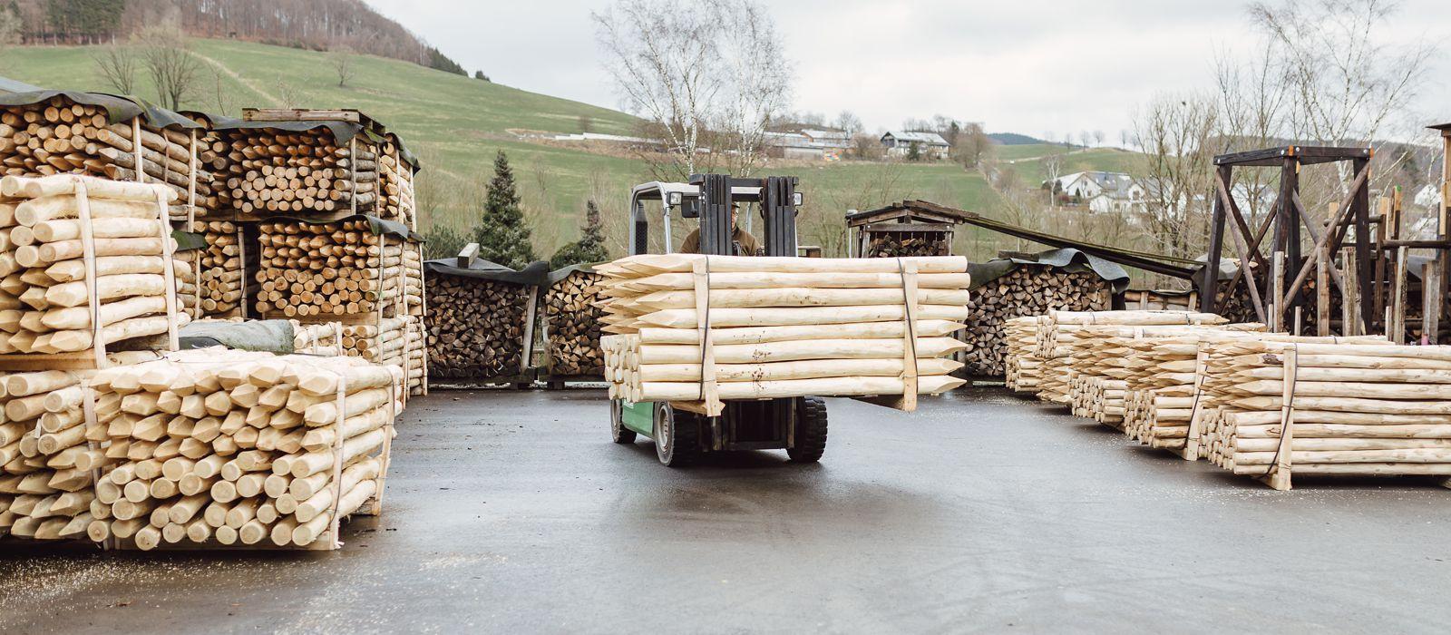 Robinienholz Handel und Lieferung NRW
