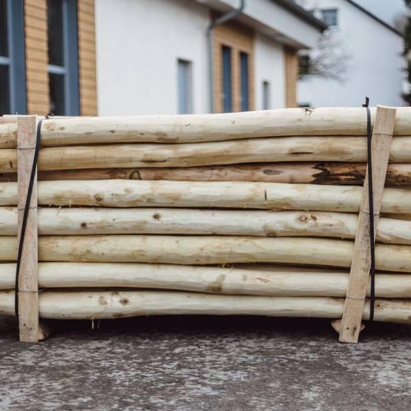 2,3 m Robinienpfahl wie gewachsen gefast und gespitzt